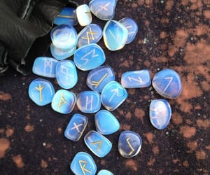 magic, runes, and blue image