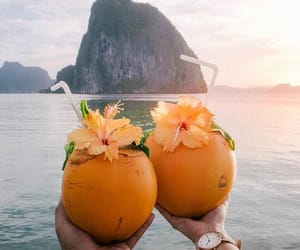 drink, tropical, and food image
