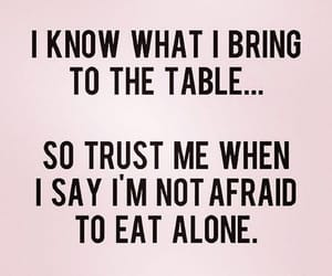 quotes, alone, and table image