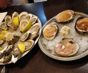 clam, oyster, and raw image