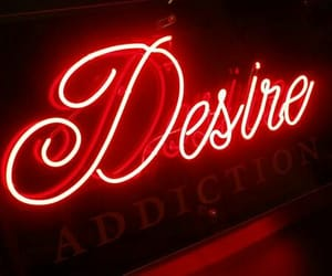 red, desire, and neon image