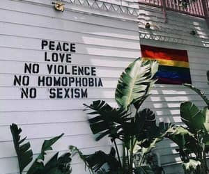 love, peace, and lgbt image