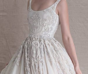 shine, wedding, and dress image