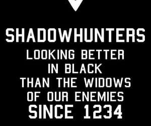 shadowhunters, black, and wallpaper image