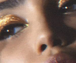 gif, gold, and makeup image