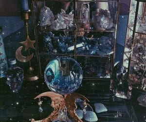 crystals, magic, and witch image