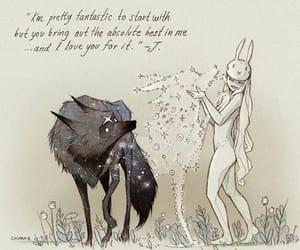 art, Chiara Bautista, and wolf image