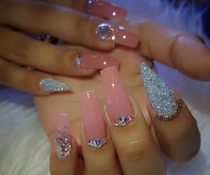 follow, nails, and blingnails image