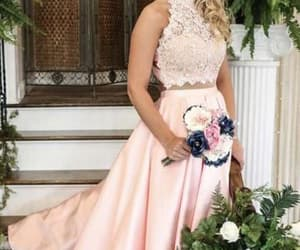 prom gown, prom season, and two pieces prom dress image