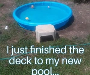 deck, pool, and redneck image