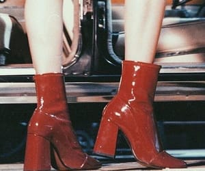 red, boots, and vintage image