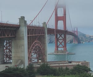 city, travel, and golden gate image