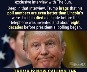 idiot, POTUS, and donald trump image