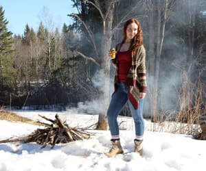 bonfire, canadian, and girl image