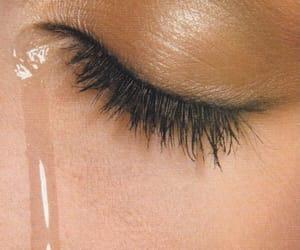 cry, eye, and tear image