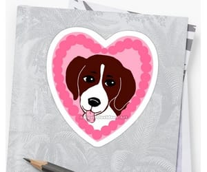 beagle, sticker, and dogs image