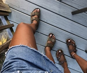 beach, birkenstock, and clothes image