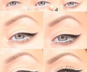 black, eye makeup, and combination image