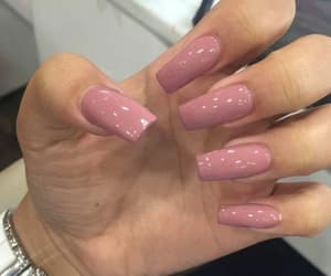 nails, Nude, and love image