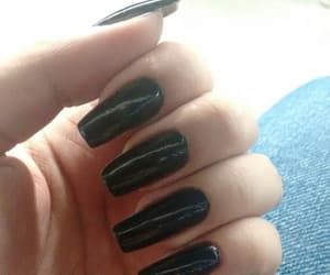 black, love, and nails image
