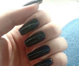black, nails, and my nails image