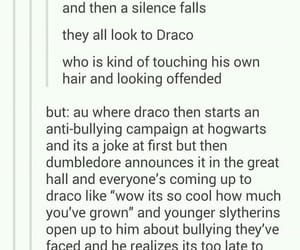 draco malfoy, harry potter, and hp au image