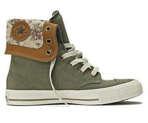converse, green, and hightops image