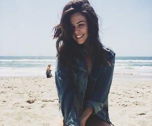 beach, summer, and denim jacket image