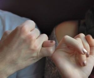 couple, hands, and promise image