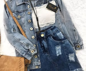clothes, cool, and denim jacket image