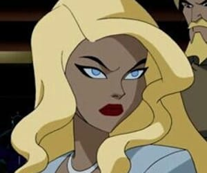 animation, Black Canary, and cartoon image