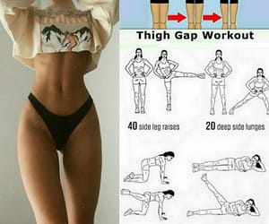 lose weight, thigh gap, and work it out image