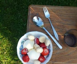 dessert, garden, and ice cream image