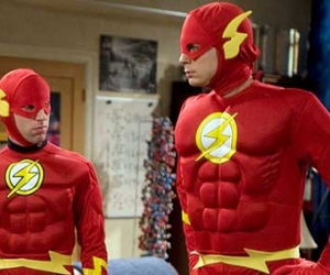 flash, howard, and sheldon image