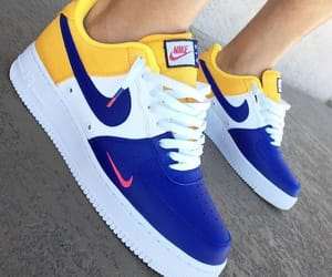 nike, blue, and yellow image