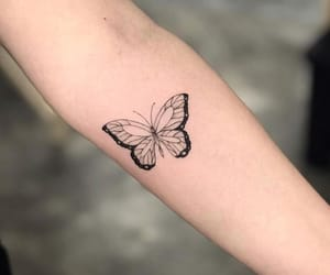 alternative, butterfly, and girl image