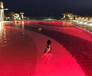 red, pool, and aesthetic image