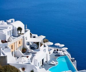 Greece, santorini, and sea image