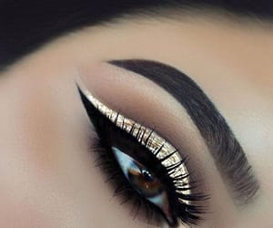 beauty, wing, and makeup image