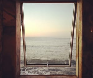 window, ocean, and photography image