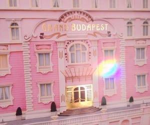pink and hotel image