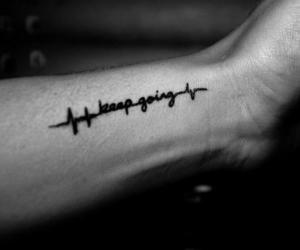 tattoo, black and white, and life image