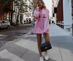 gucci, pink sweater, and gucci sweater image