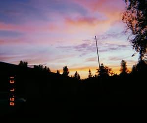 evening, night, and sky image