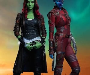 Marvel, zoe saldana, and karen gillan image