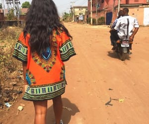 africa, girl, and orange image