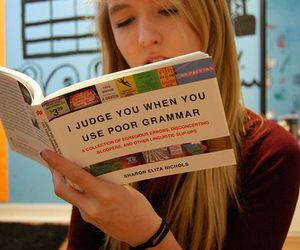 book, grammar, and funny image