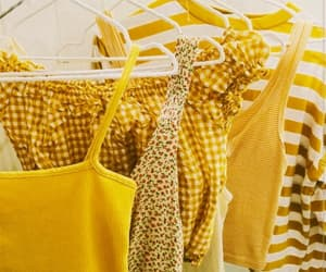 fashion, top, and yellow image