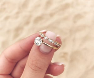 beach, rings, and wedding ring image