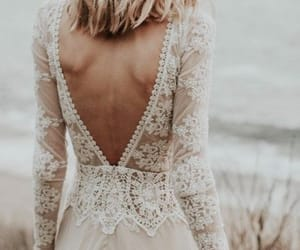 bride, wedding dress, and hairstyle image